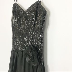 Vintage 80's Sequin Short Prom Dress